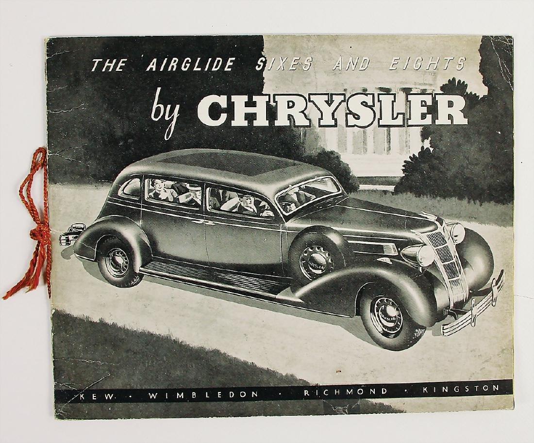 """CHRYSLER sales catalog Chrysler 1935 """"The Airglide"""