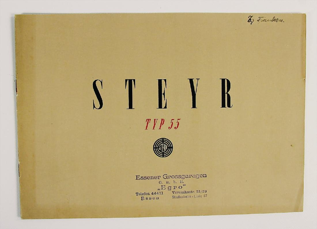 STEYR sales catalog Steyr type 55, late '30s, in