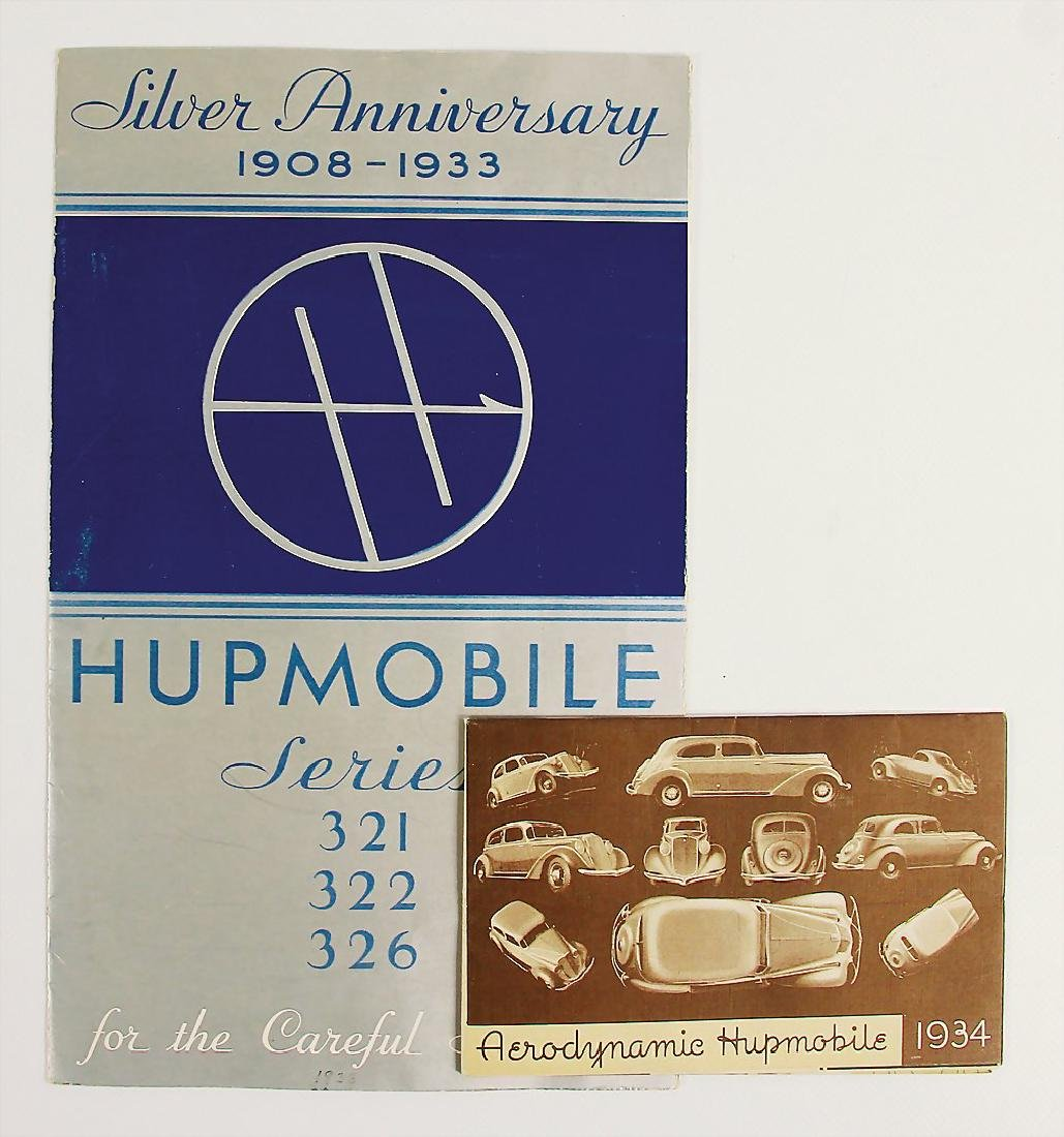 HUPMOBILE mixed lot with 2 pieces, fold-out brochure