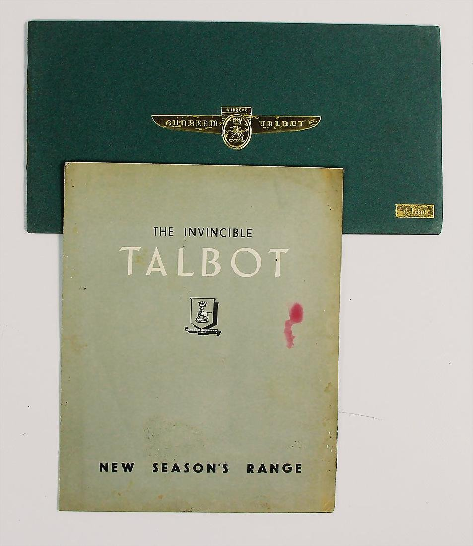 TALBOT mixed lot with 2 pieces, sales folder Talbot