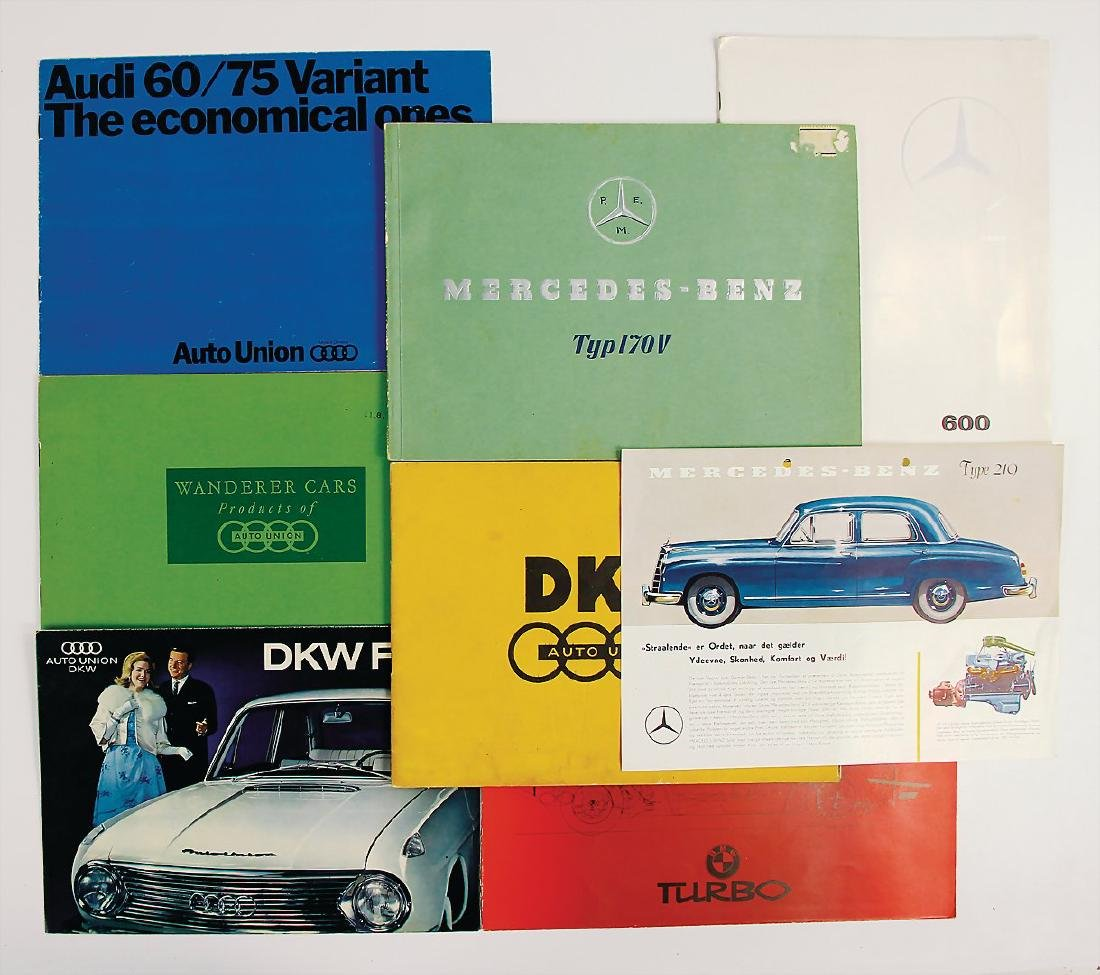 AUTO UNION/DKW/BMW/MERCEDES-BENZ mixed lot with 8