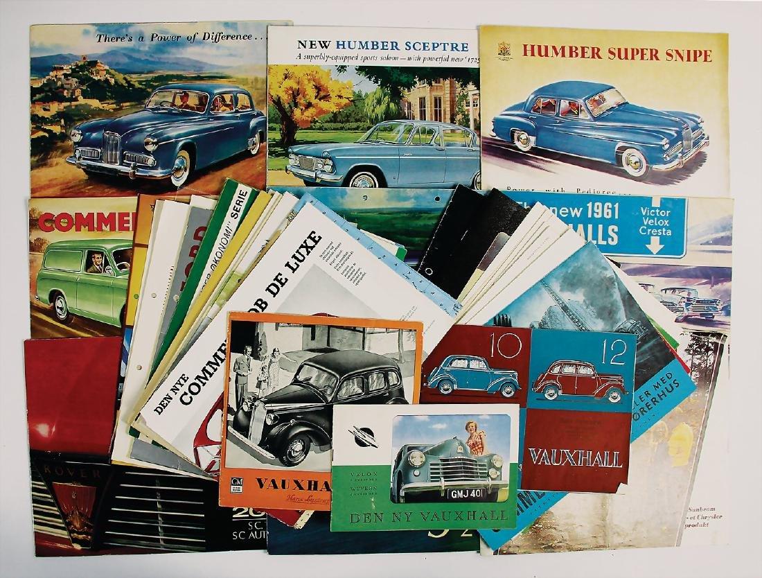 mixed lot of sales brochures/brochures/magazines, sales