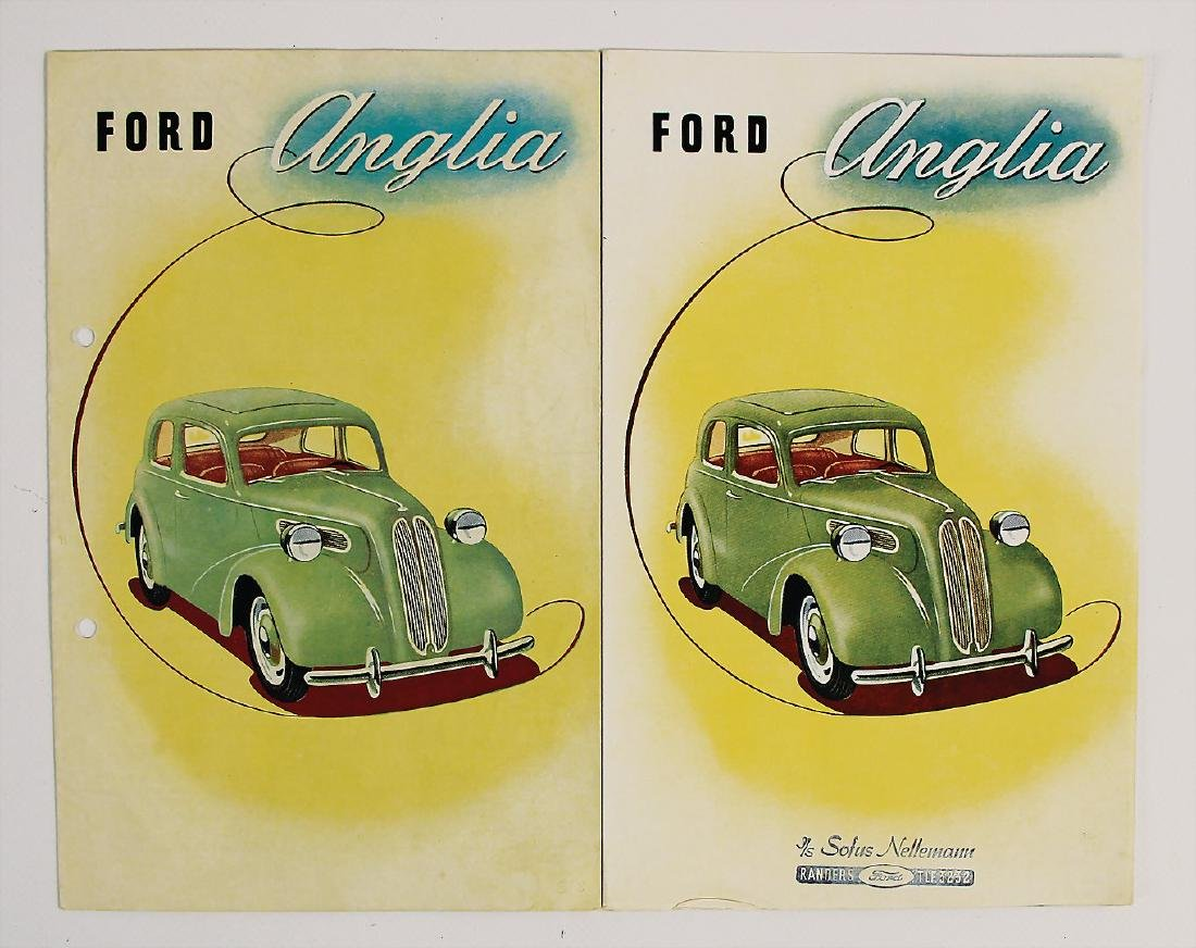 FORD 2 sales brochures Ford type Anglia, with technical