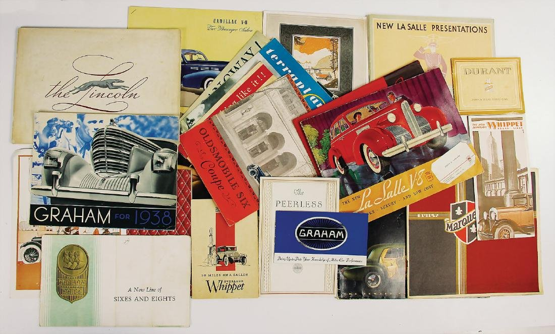 mixed lot of sales brochures and catalogs, from the