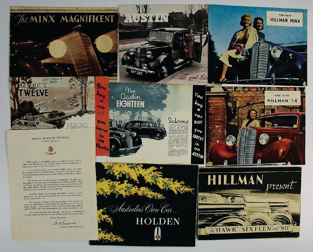 mixed lot with 9 pieces, among it sales brochures/sales