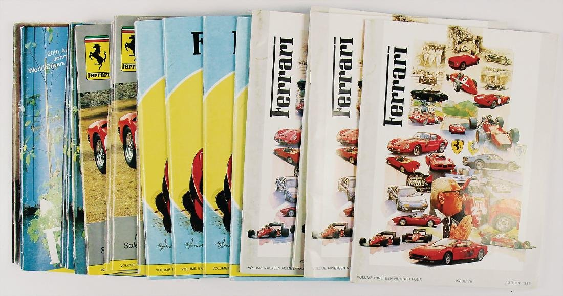 """FERRARI mixed lot of 18 issues """"The Journal of the"""