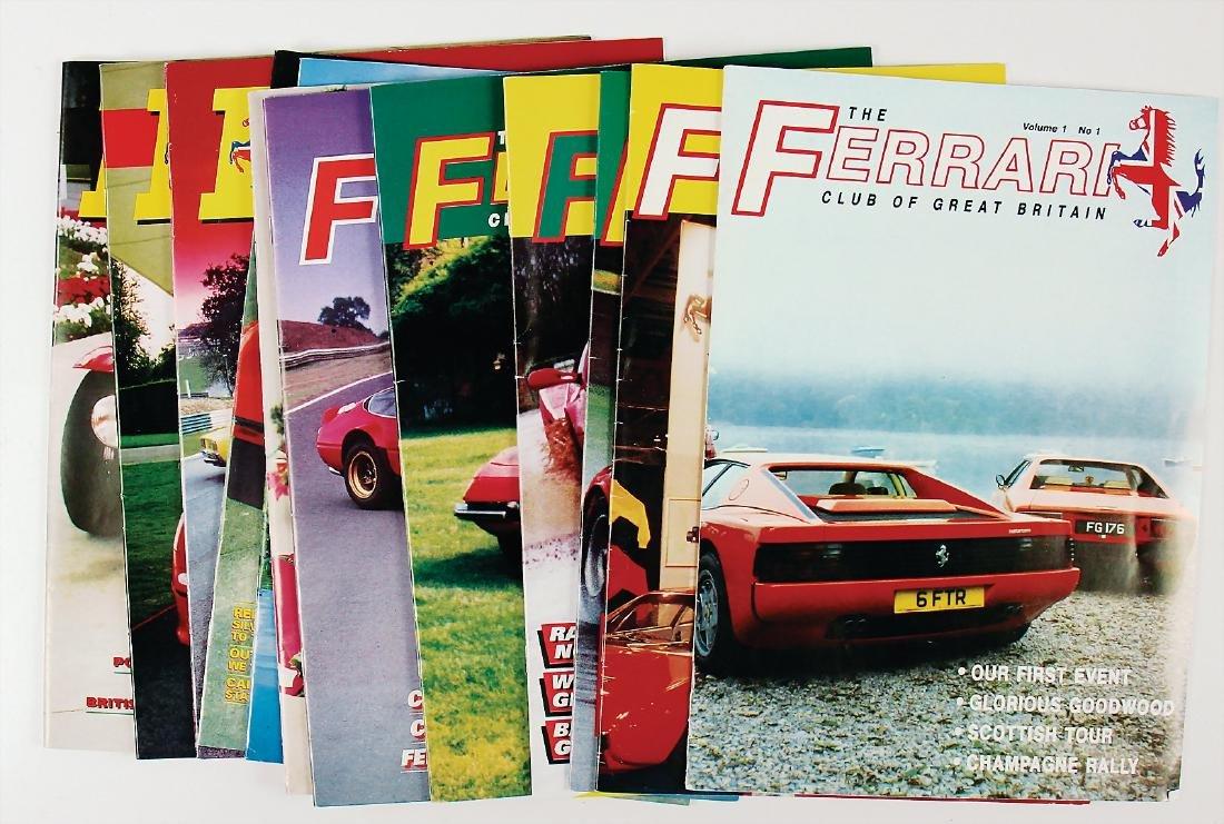 "FERRARI mixed lot of 12 issues magazine ""The Ferrari"