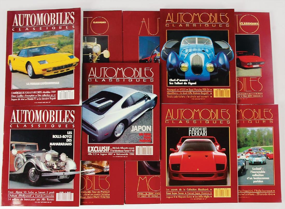 """mixed lot of 11 issues magazine """"Auto Classiques"""","""