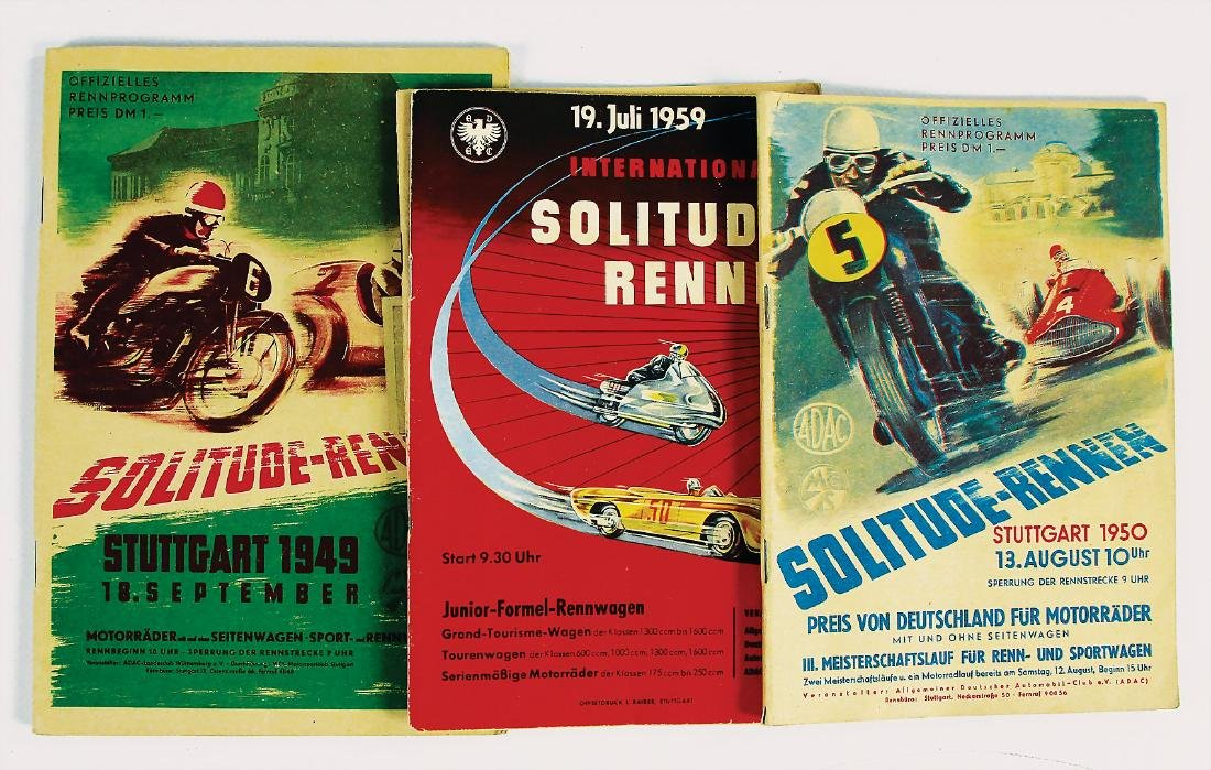 mixed lot with 4 pieces, programmes, among it No. 1: