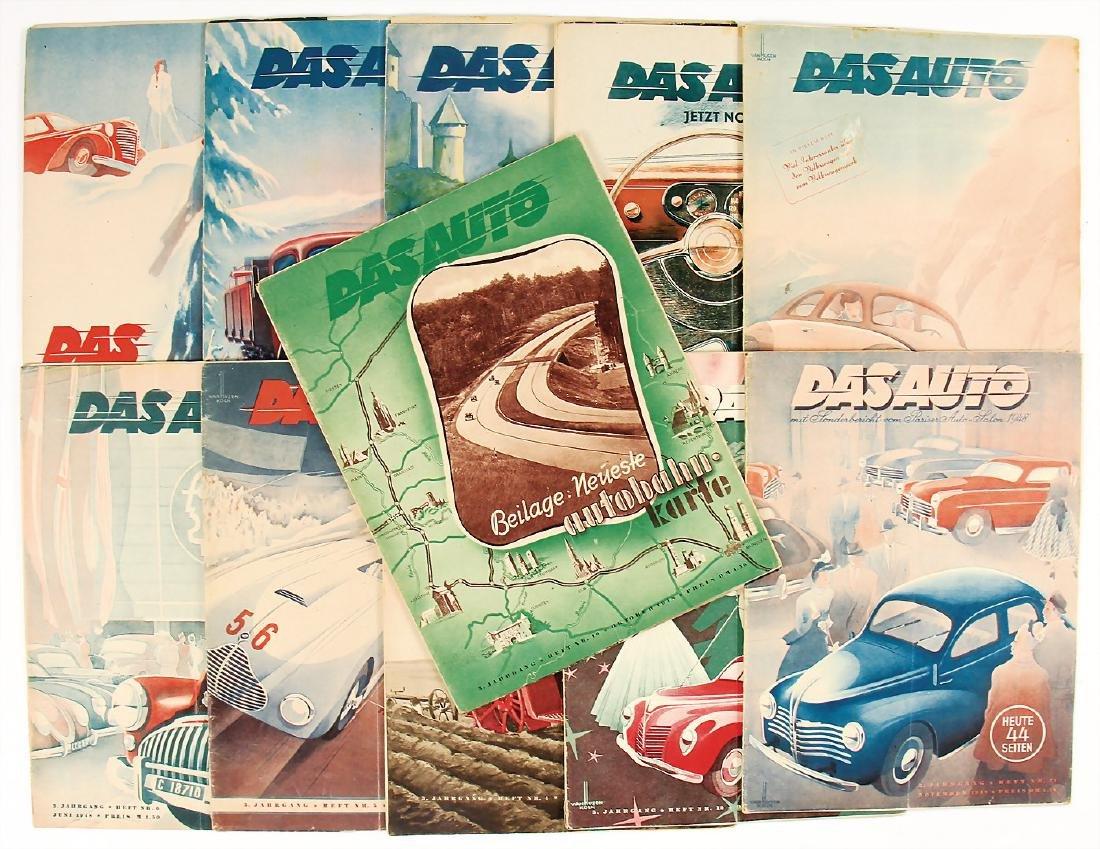 "magazine ""Das Auto"", complete year 1948, 11 issues (1x"