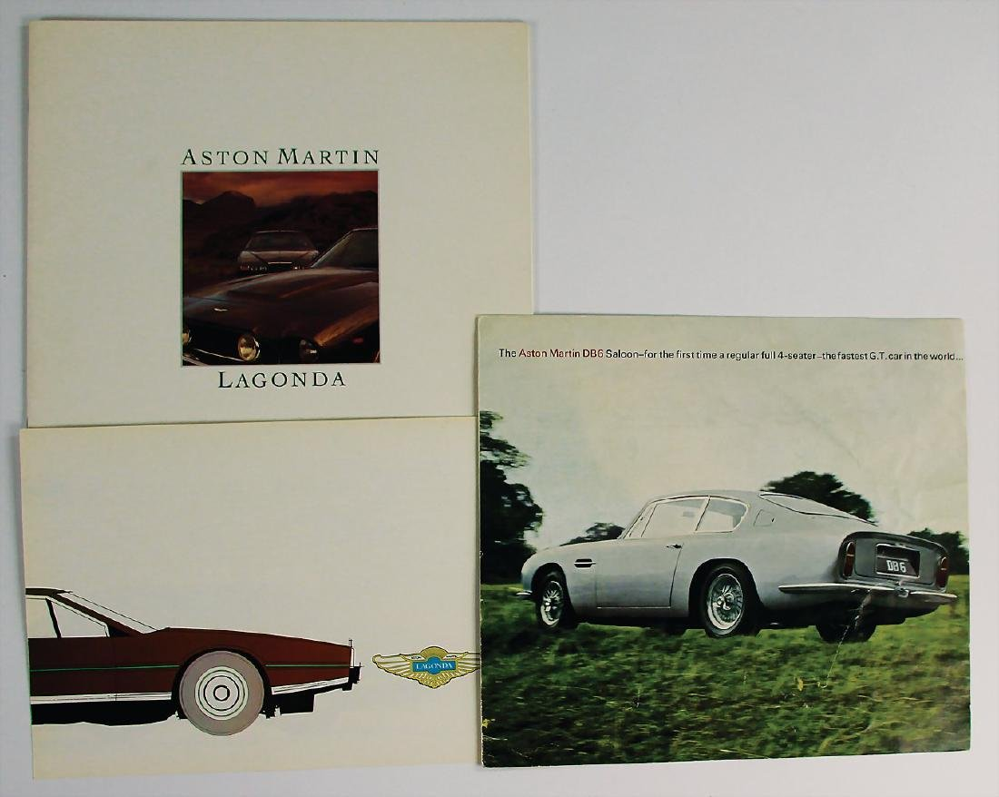 ASTON MARTIN mixed lot with 3 pieces, No. 1: fold-out
