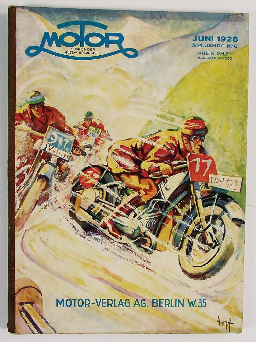 "magazine ""Motor"", publisher Gustav Braunbeck, edition"
