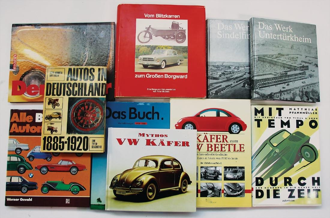 """mixed lot with 10 pieces, books, among it e.g. """"Autos"""