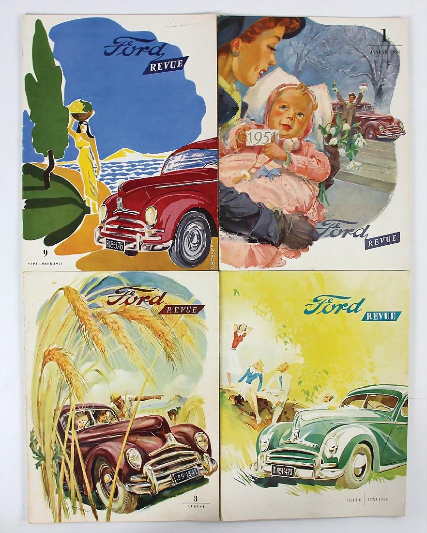 "FORD mixed lot of 4 issues magazine ""Ford Revue"", issue"