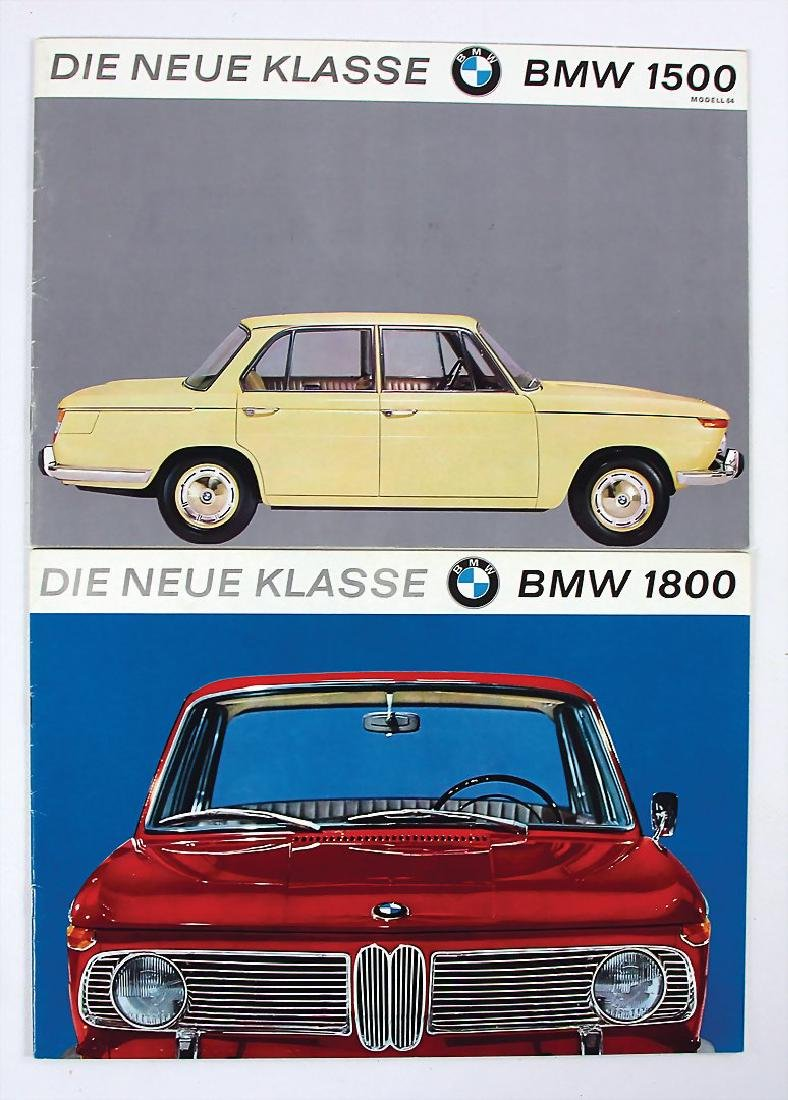 BMW mixed lot with 2 pieces, sales brochures for type