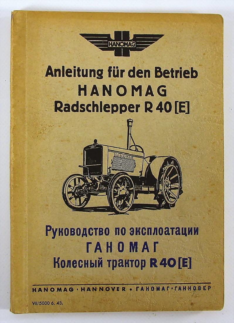 HANOMAG operating instruction for the Hanomag wheeled