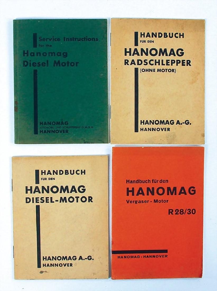 HANOMAG mixed lot with 4 pieces, No. 1: manual Hanomag