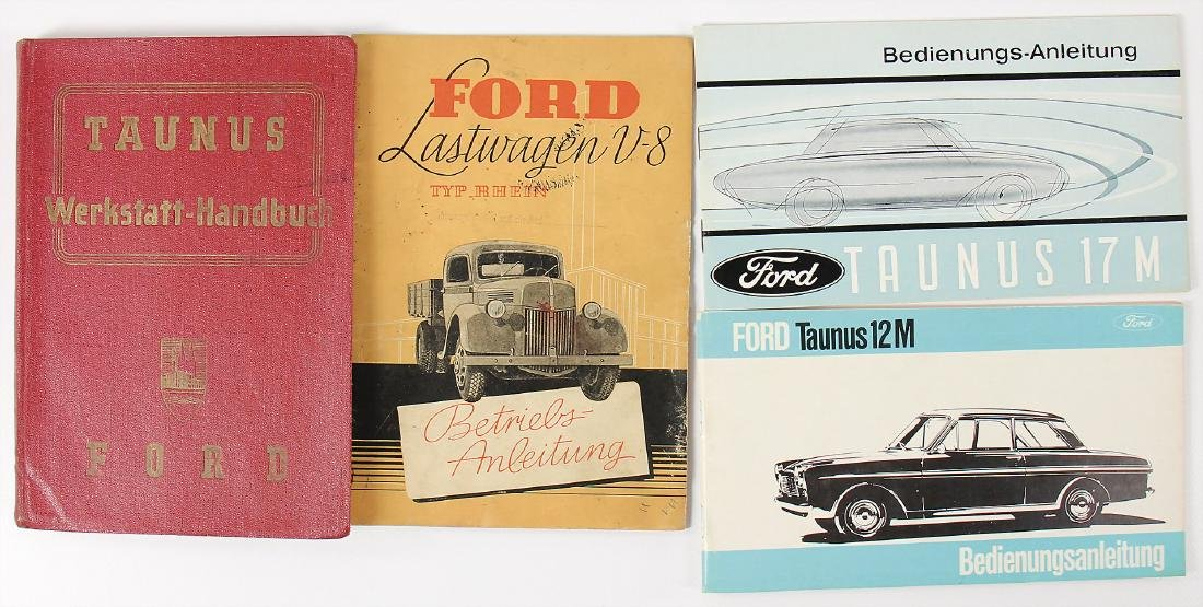 FORD mixed lot with 4 pieces, No. 1: workshop-manual