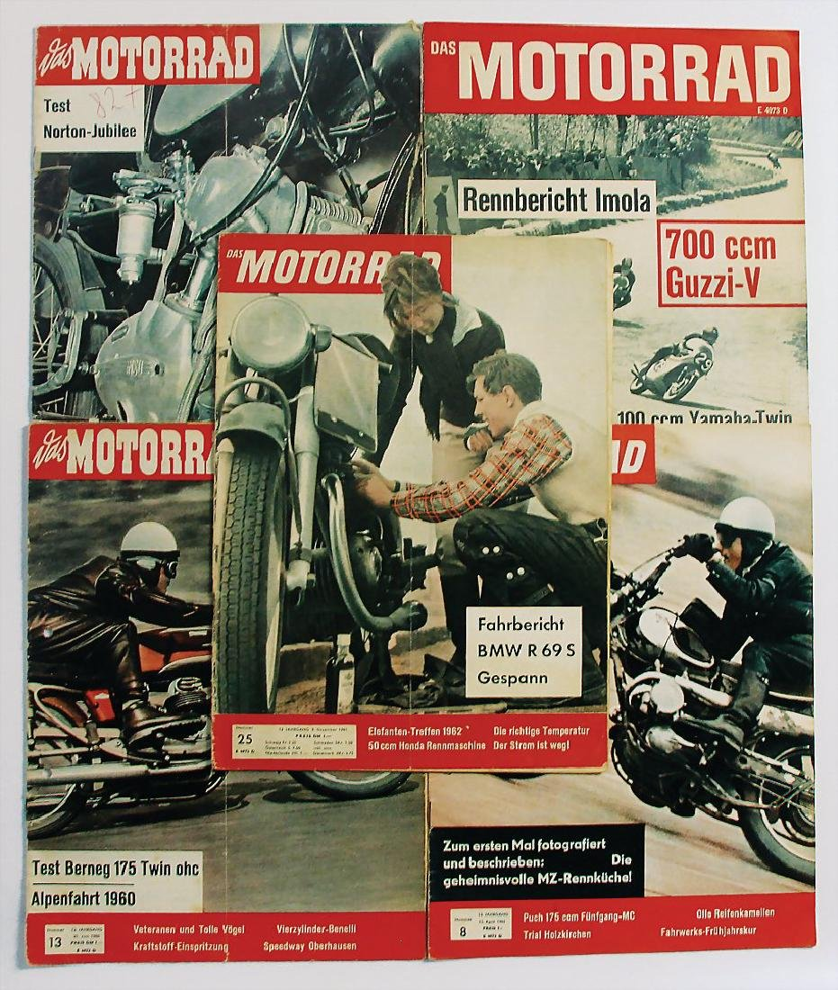 """mixed lot of the magazine """"Das Motorrad"""", 5 issues 1959"""