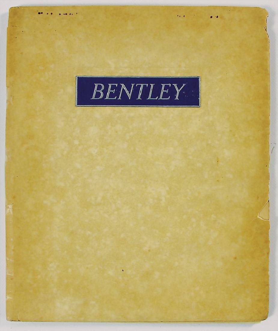 BENTLEY 1931, sales catalog Bentley 4 ¼ litre, 31