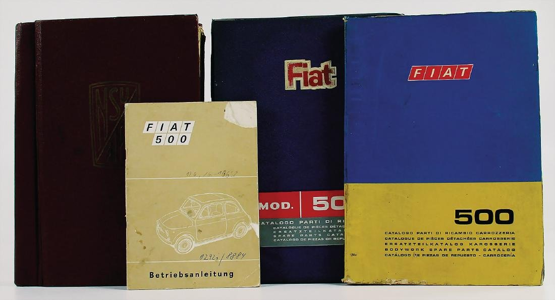 NSU/FIAT mixed lot with 4 pieces, among it e.g.