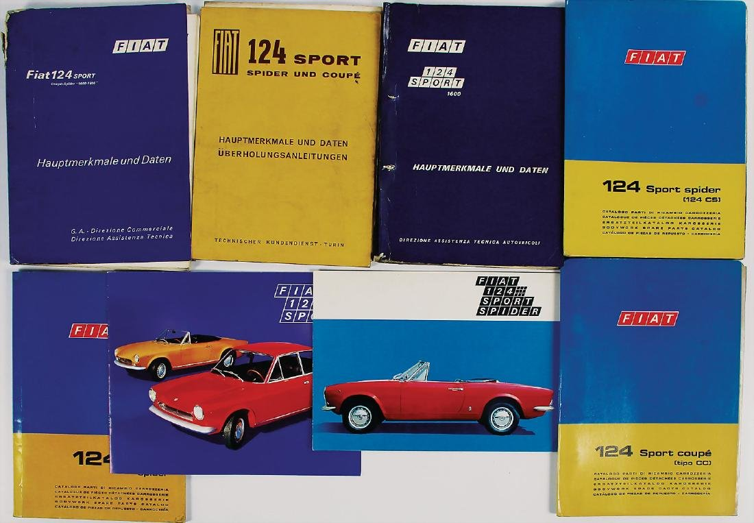 FIAT mixed lot of 8 pieces, among it sales brochure
