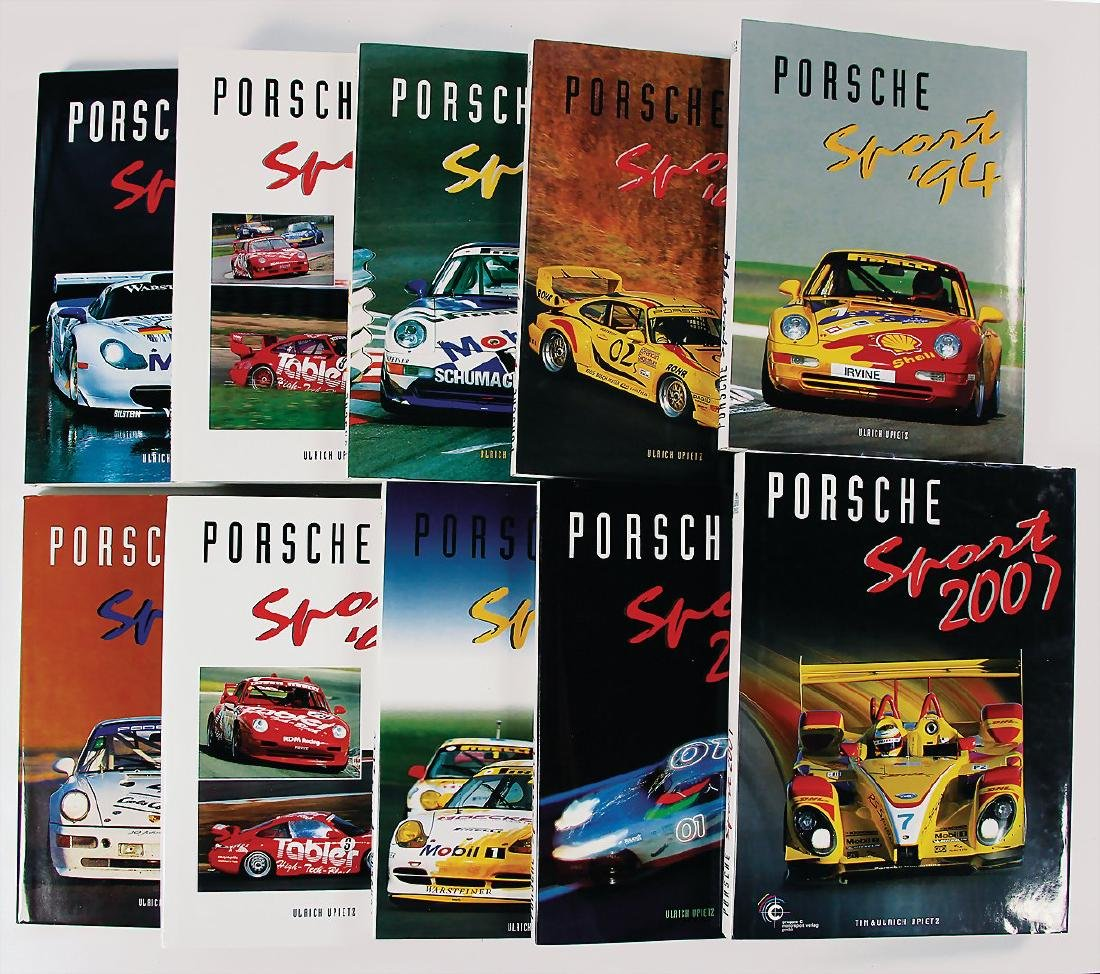 "PORSCHE mixed lot of books 10 editions ""Porsche Sport"""