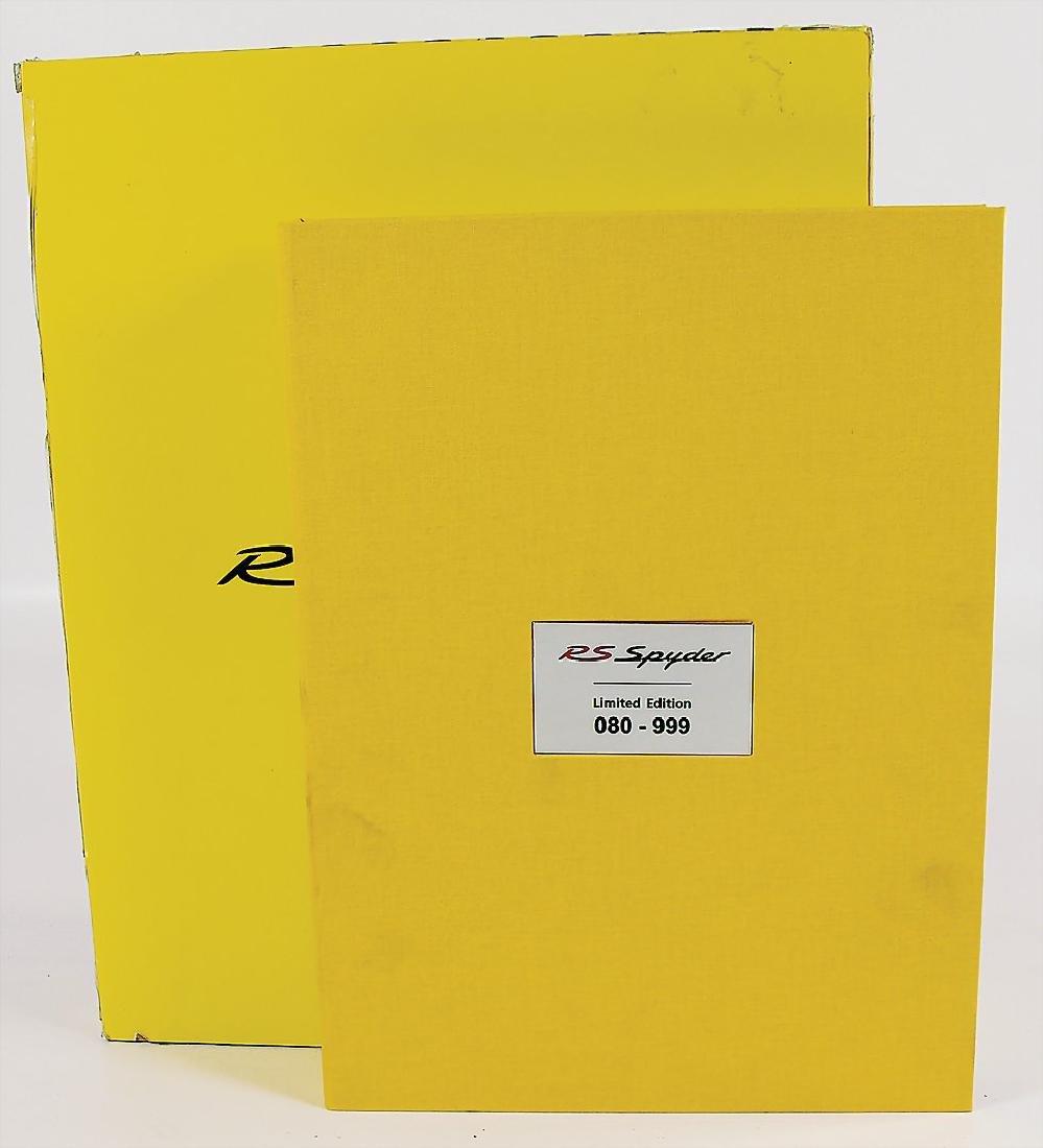 """PORSCHE book """"Porsche RS Spyder"""" by Ulrich Upietz,"""
