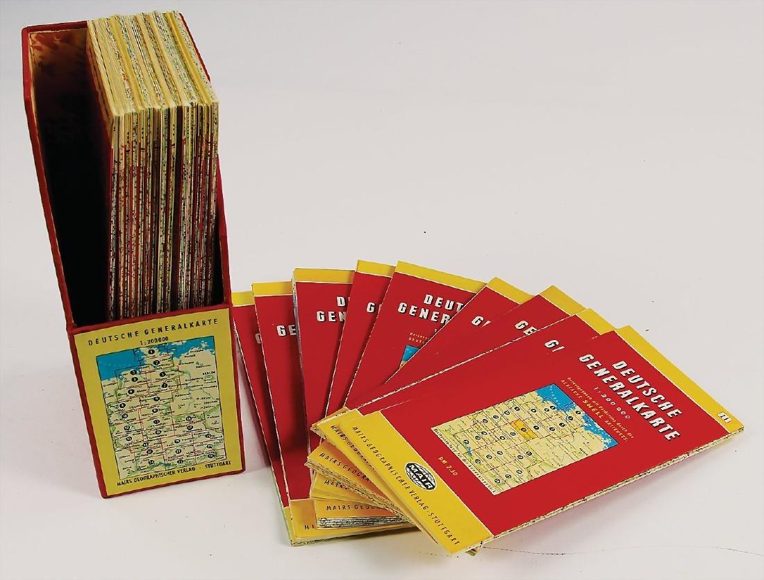 "set of maps ""Deutsche Generalkarte"" with a scale of"