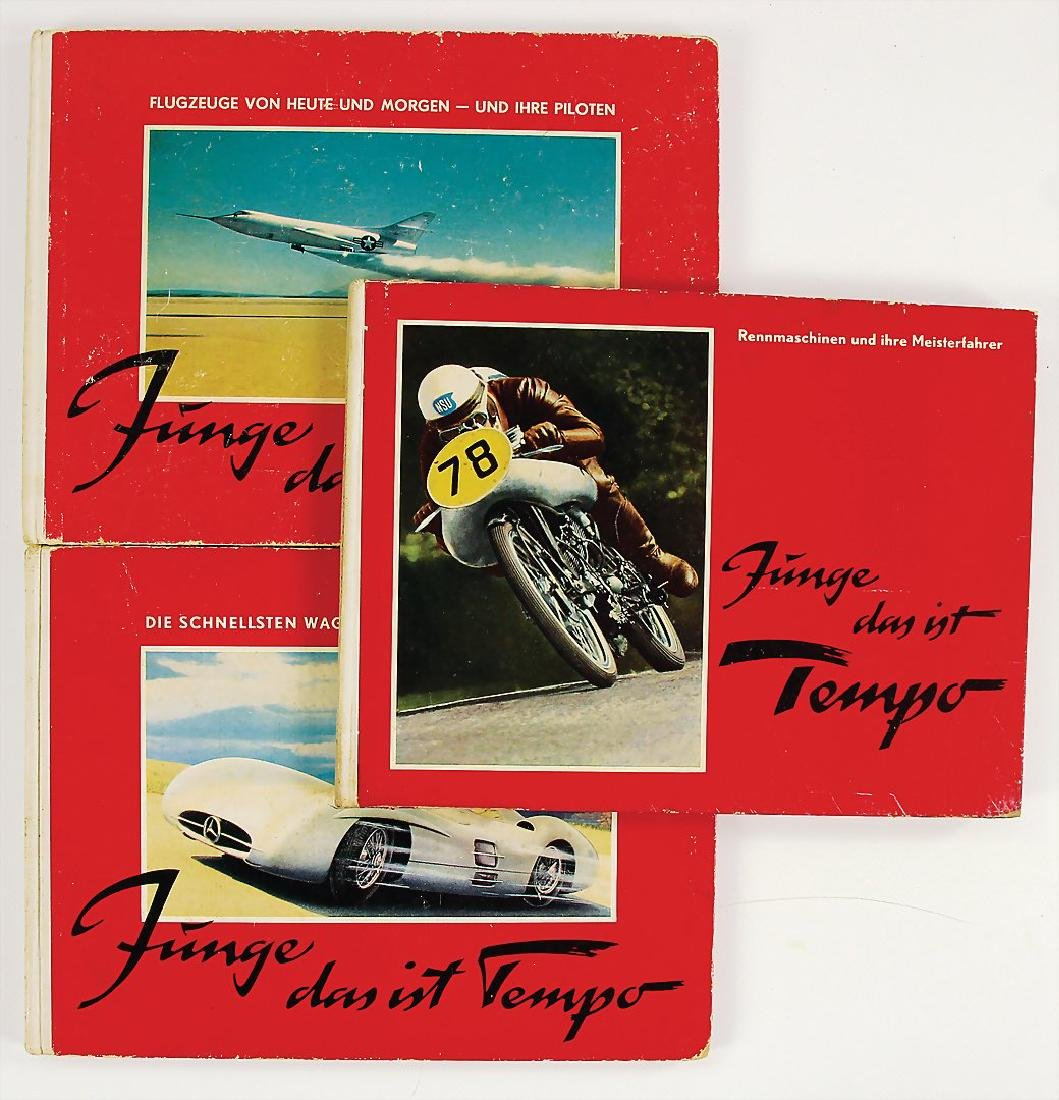 "mixed lot with 3 pieces, books, ""Junge, das ist Tempo"","