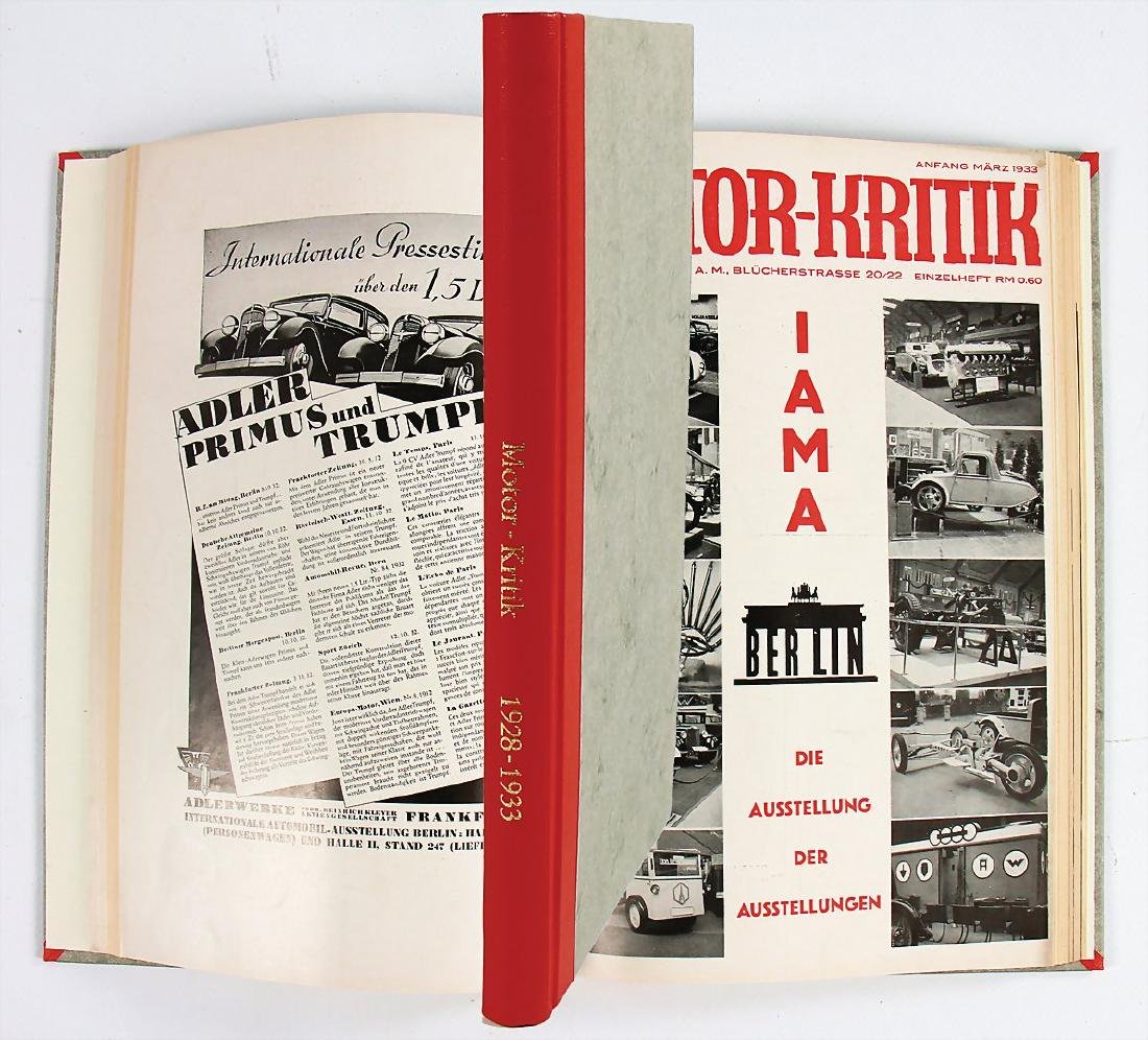 "magazine ""Motor-Kritik"" year 1928 till 1933, the issues"