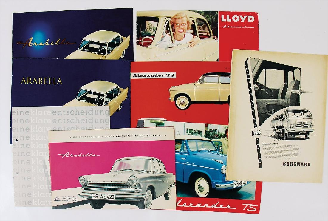 mixed lot with 10 pieces, among it Lloyd Arabella sales