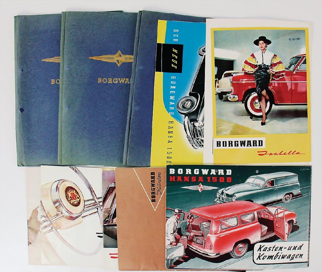 BORGWARD mixed lot with 12 pieces, among it sales