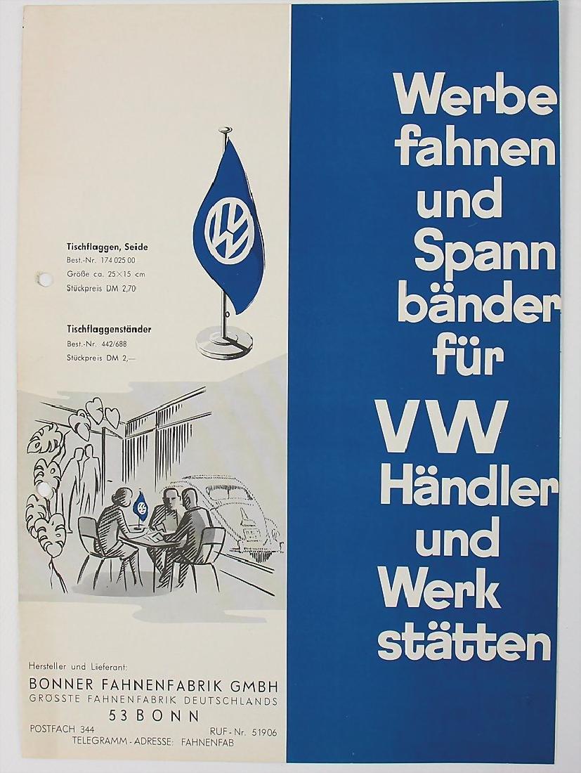 VOLKSWAGEN/BONNER FAHNENFABRIK GMBH fold-out brochure