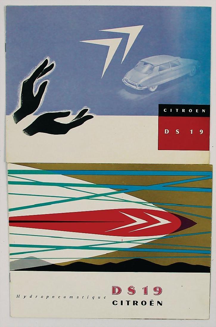 CITROEN mixed lot of 2 sales catalogs for Citroen DS19