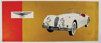 JAGUAR large-format sales brochure/fold-out brochure