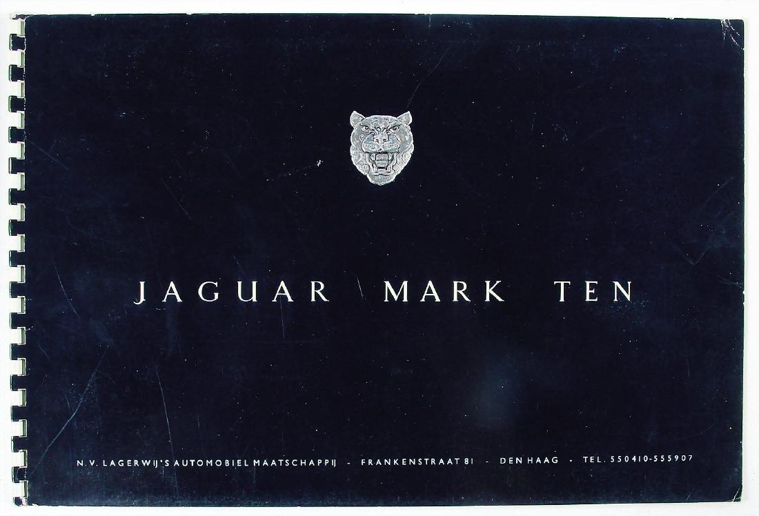 JAGUAR sales catalog Jaguar Mark Ten, 16 pages, English