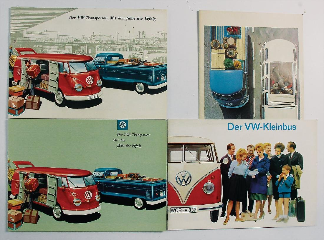 VOLKSWAGEN mixed lot with 4 pieces, with the topic VW