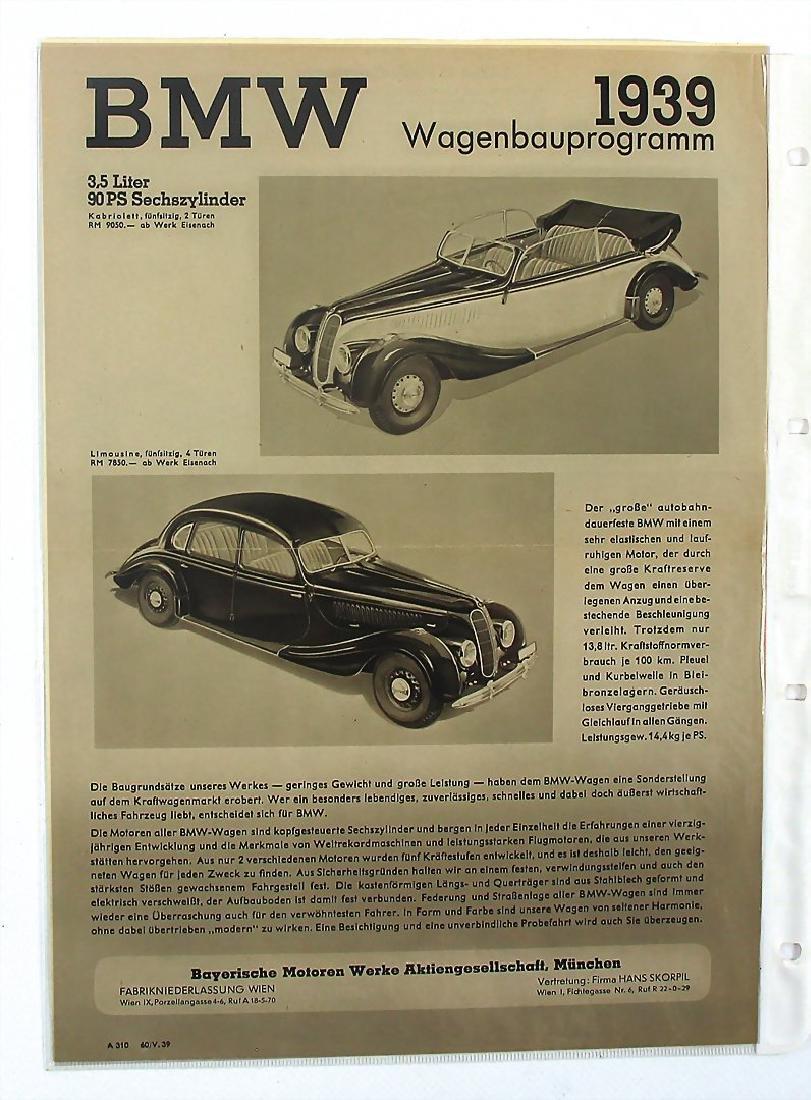 BMW flyer/sales brochure BMW carriage building
