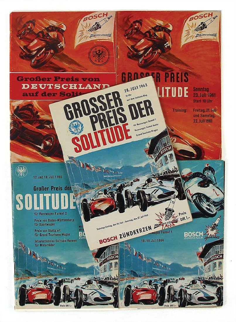 mixed lot of 5 programmes, among it Grand Prix of the