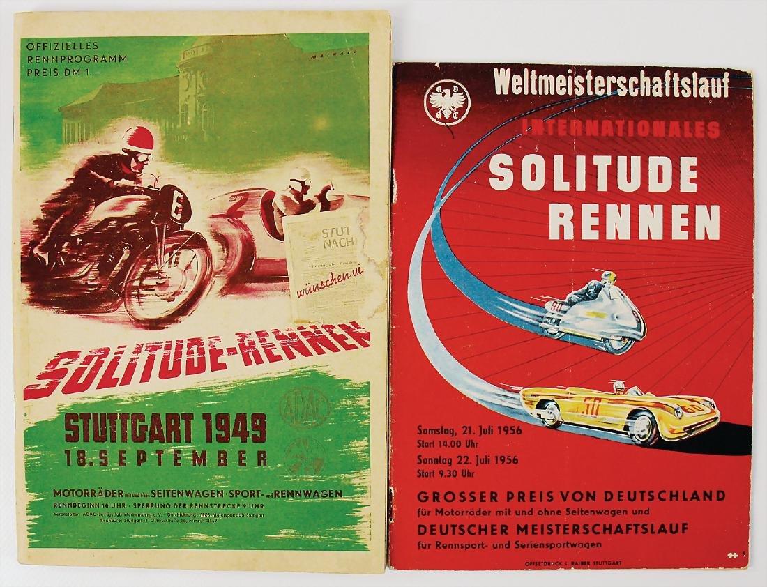 mixed lot of 2 programmes, among it Solitude race,