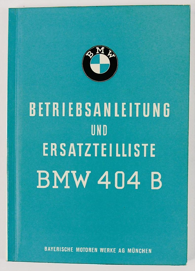 BMW operating instruction and list of replacement parts