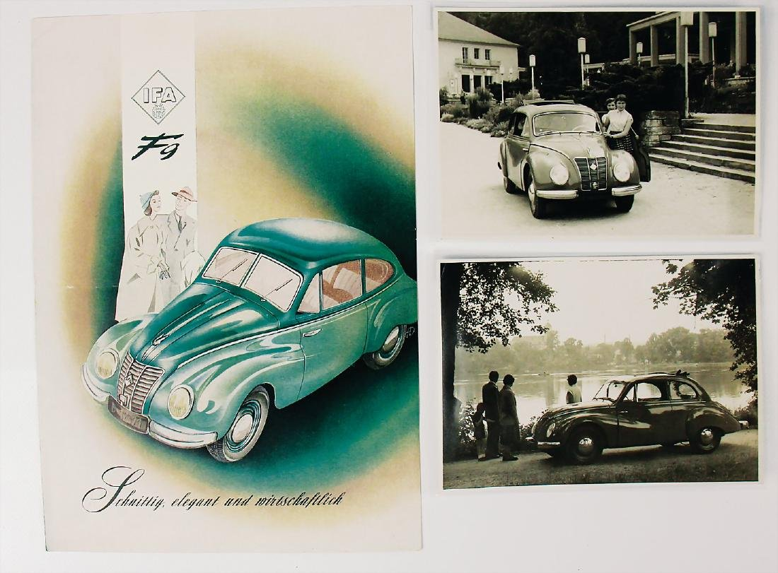 IFA mixed lot with 3 pieces, sales brochure IFA type F9