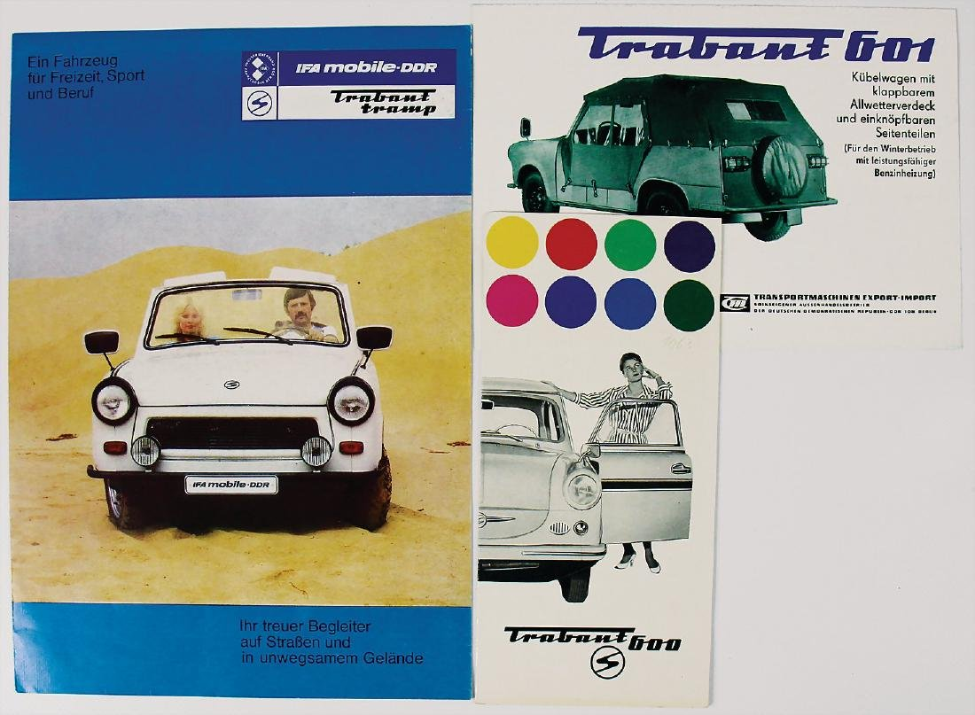 TRABANT mixed lot with 3 pieces, No. 1: color chart