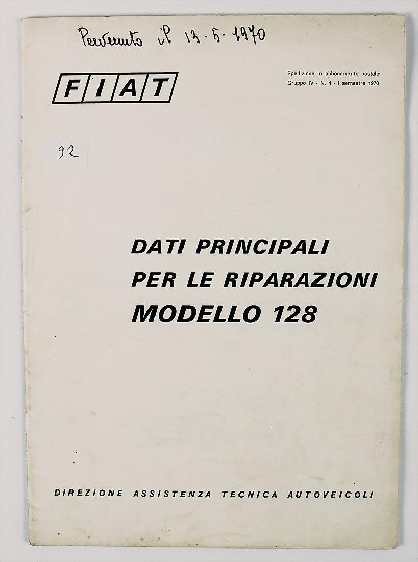FIAT guide for repair for Fiat type 128 from 1970,