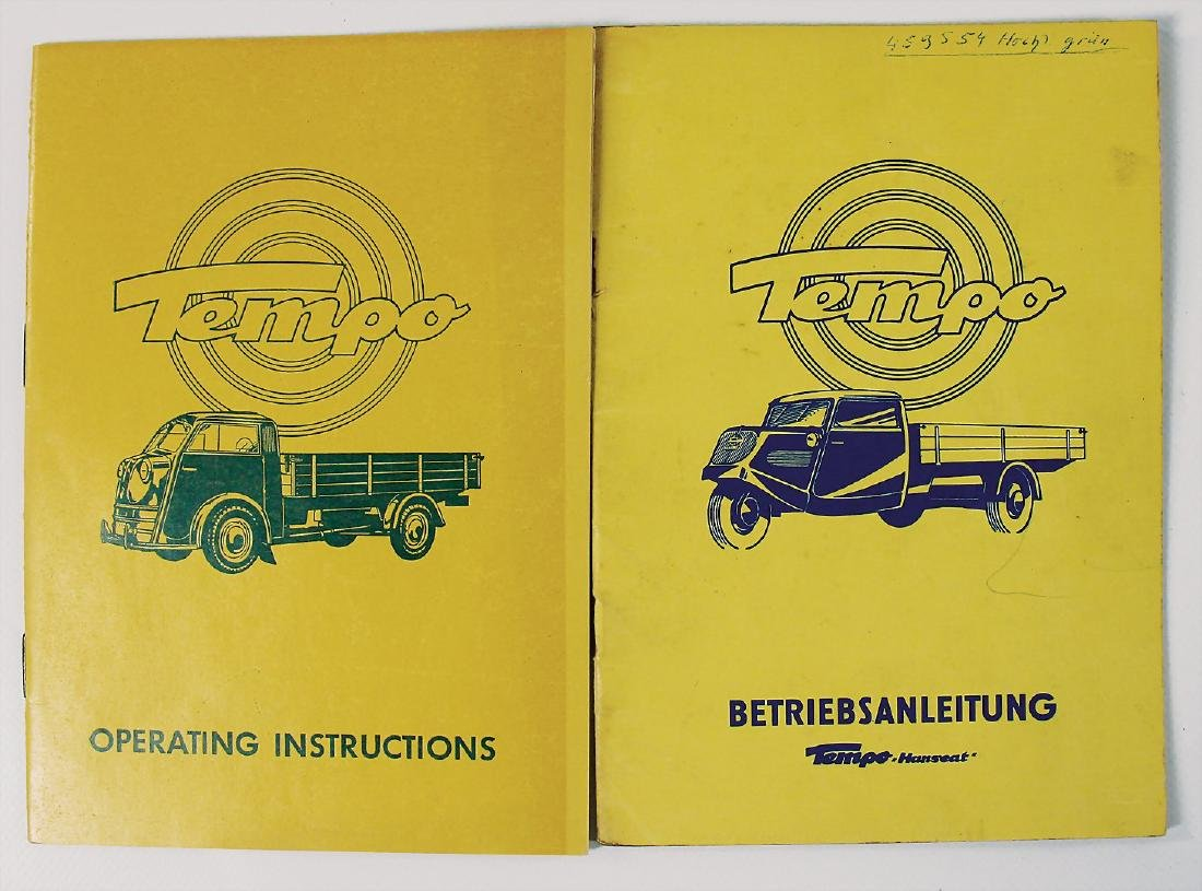 TEMPO mixed lot of 2 operating instructions, No. 1: