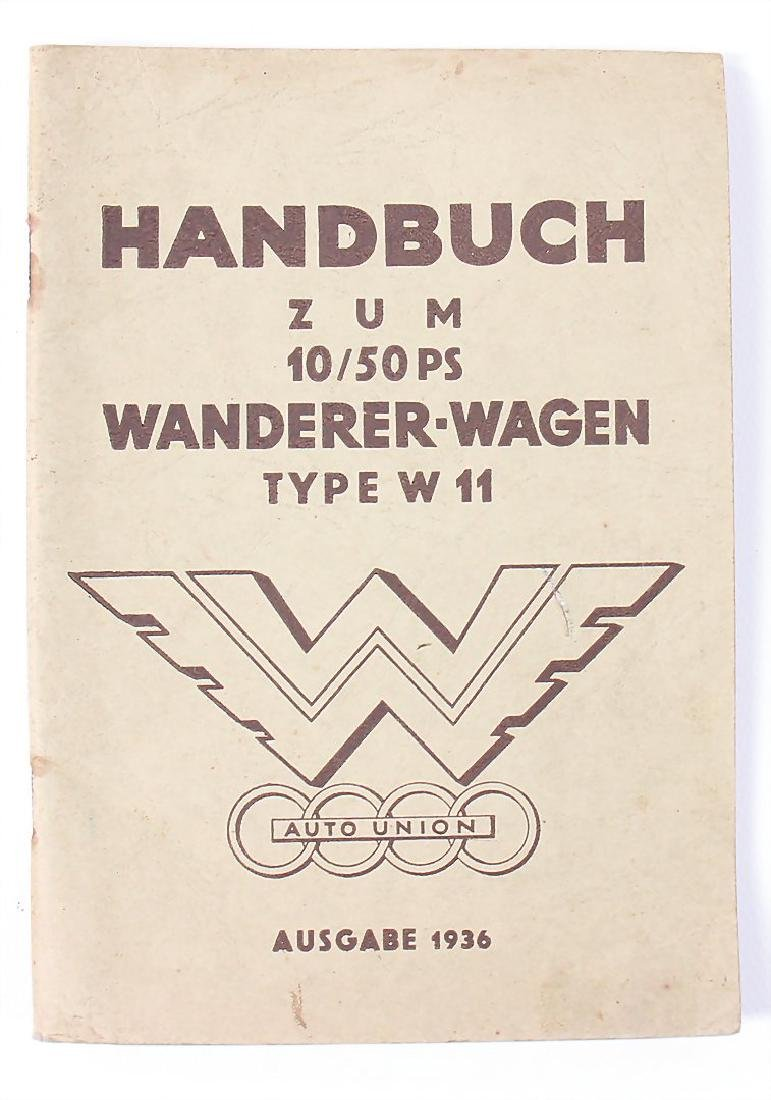 WANDERER manual for the 10/50 HP Wanderer car type W11,