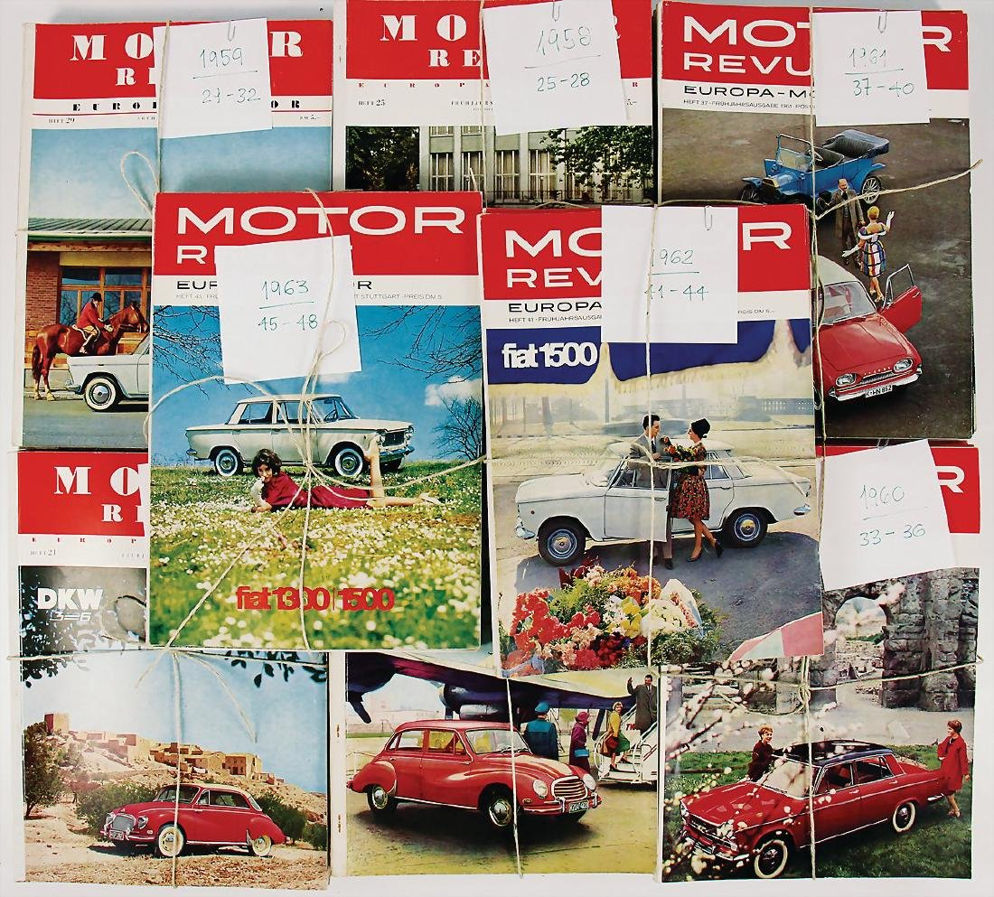 MOTOR REVUE 32 issues of the magazine, among it the