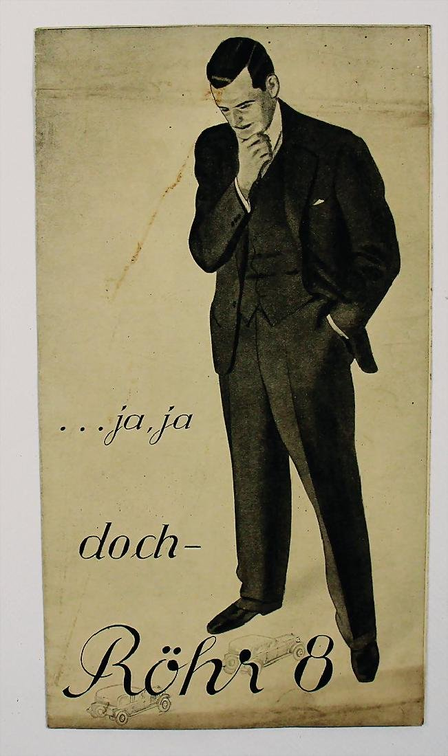 RÖHR 1931, fold-out brochure Röhr 8, 6 pages, small