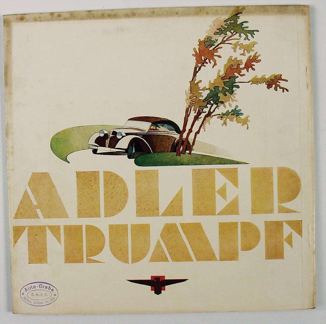 ADLER sales catalog Adler Trumpf, 16 pages, from 1937,